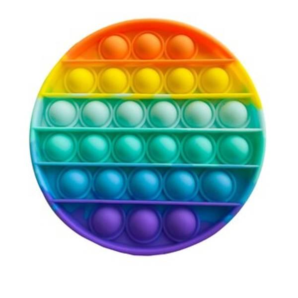 Bilde av Fidget Toys, Pop It Rainbow, Rund