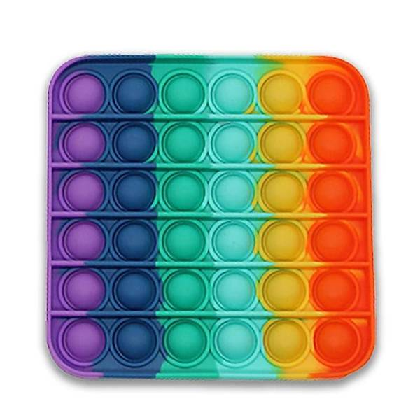 Bilde av Fidget Toy Rainbow Pop It,Firkant