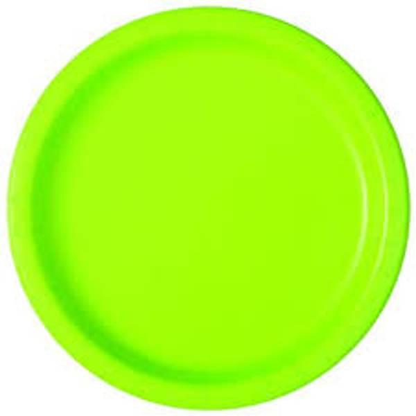 Bilde av Neon Grønne Tallerken, 16stk