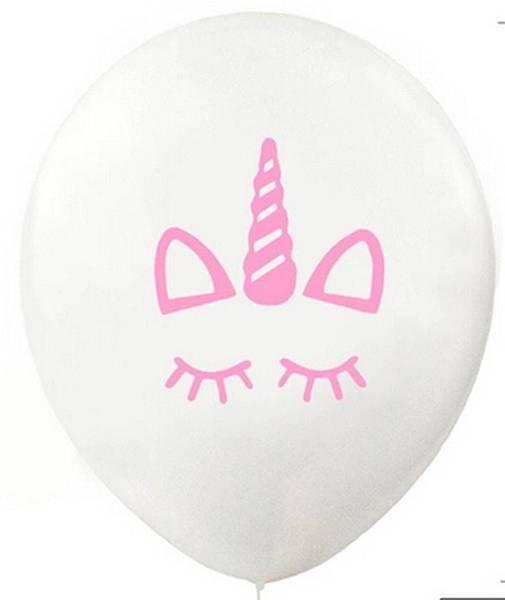 Bilde av hvit Enhjørning, Ballonger, 10 stk