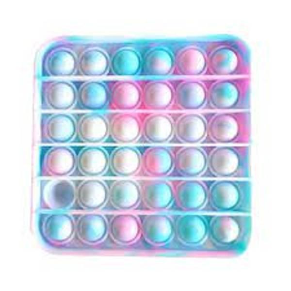 Bilde av Fidget Toys, Pop It Pastel Tie Die, Firkantet