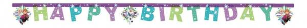 Bilde av Frost Snowflakes Banner Happy Birthday