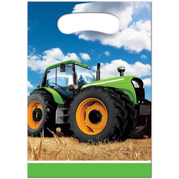 Bilde av Traktor, Godteposer, 8 stk