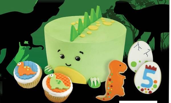 Bilde av Dinosaurer dekorasjonssett til kake