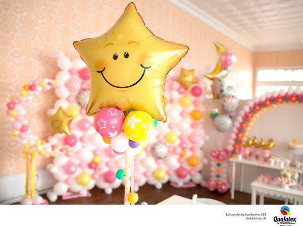 Bilde av Smilefjes Stjerne Folieballong