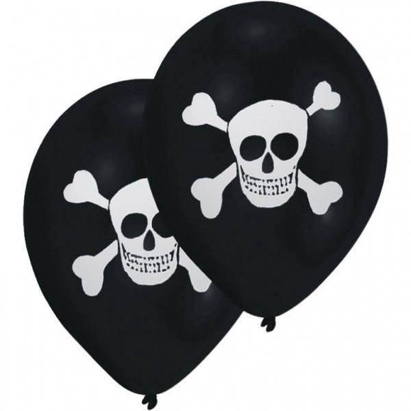Bilde av Svart ballong med skjeletthode