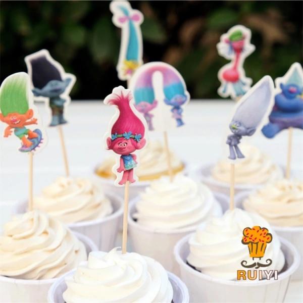 Bilde av Trolls Cupcake toppers, 8 stk