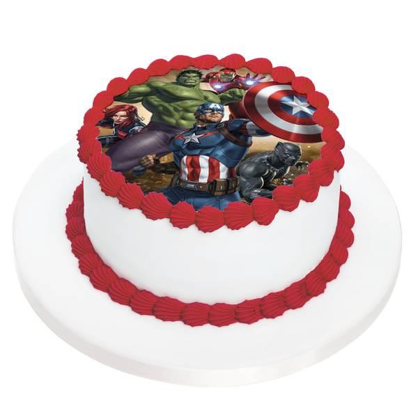 Bilde av Avengers, Kakebilde, 2, Sukkerpapir, 20 cm