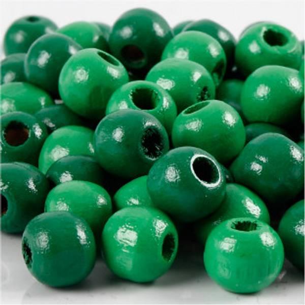 Bilde av Treperler, grønn, 12 mm, 3 mm, 22 g, 1 p