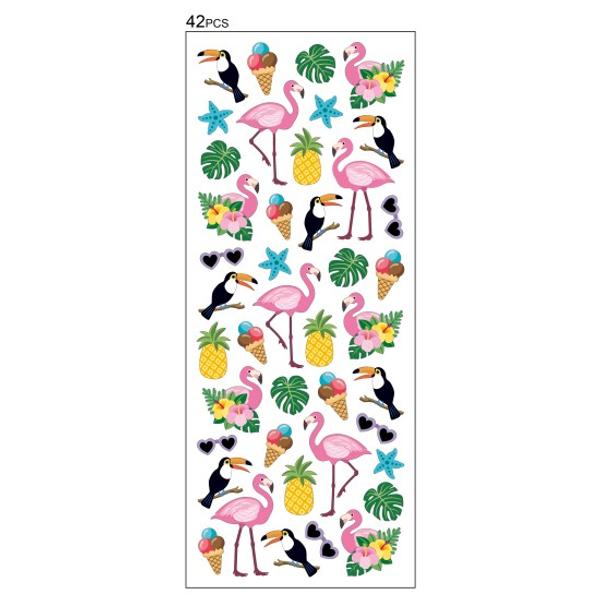 Bilde av Klistremerker - Flamingo med Glitter