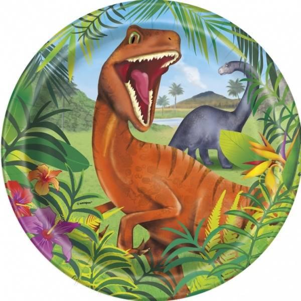 Bilde av Dinosaur Tallerker 22 cm, 8 stk