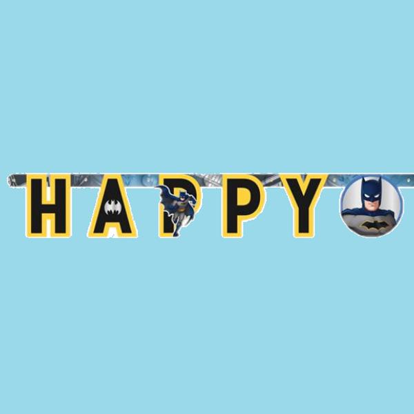 Bilde av Batman Happy Birthday Banner 2, 175 cm