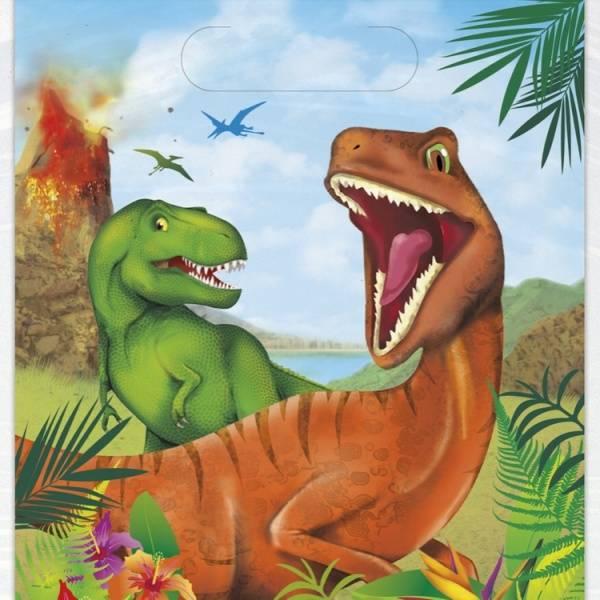 Bilde av Dinosaur Godteposer, 8 stk