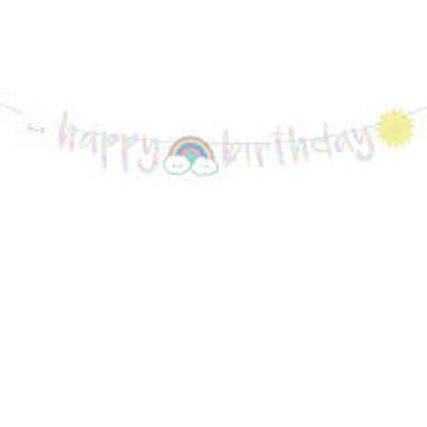 Bilde av Regnbue Happy Birthday Banner