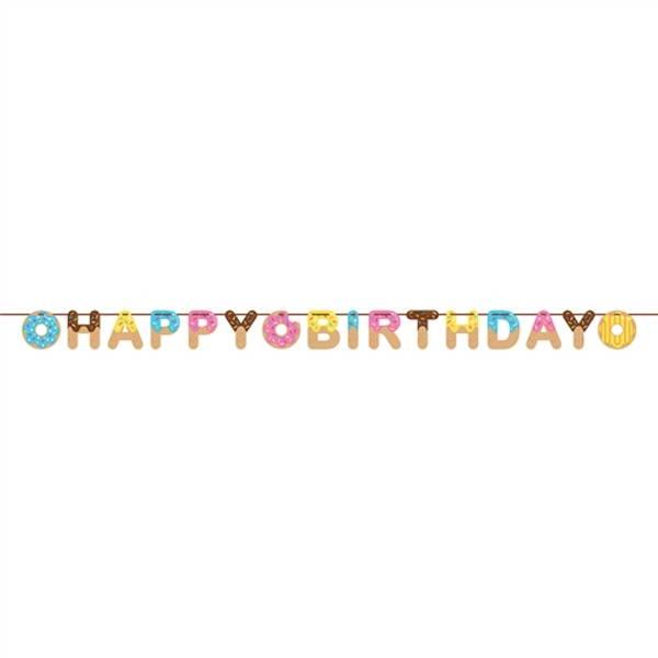 Bilde av Doughnut Happy Birthday Banner, 2,6 m