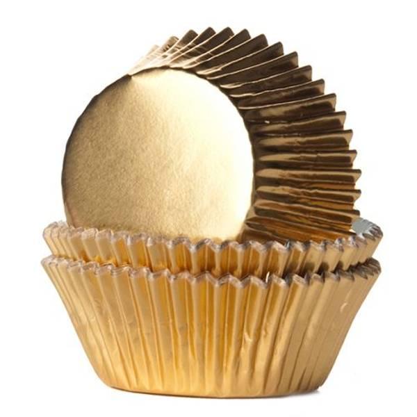 Bilde av Gull, Folie Muffinsformer, 24stk