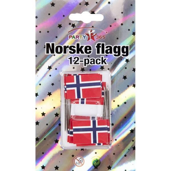 Bilde av Kransekake, Knappenålsflagg, 12 stk