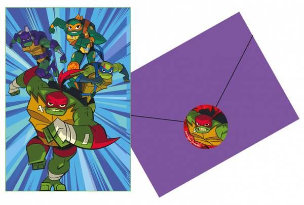 Bilde av Risa of The Ninja Turtles, Invitasjoner, 8 stk