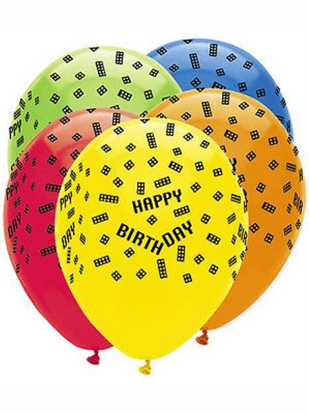 Bilde av Ballonger, Happy Birthday Farger 6 stk