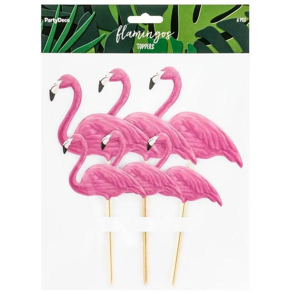 Bilde av Flamingo Kaketoppers, 6 stk