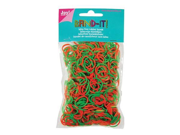 Bilde av Joy!crafts Band-it! – 2-farget grønn/orange 600stk
