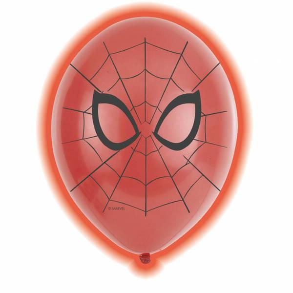 Bilde av spiderman led ballonger 5stk