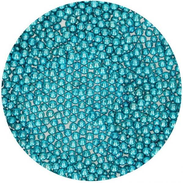 Bilde av Strøssel Sugar Pearls Metallic Blue 80g