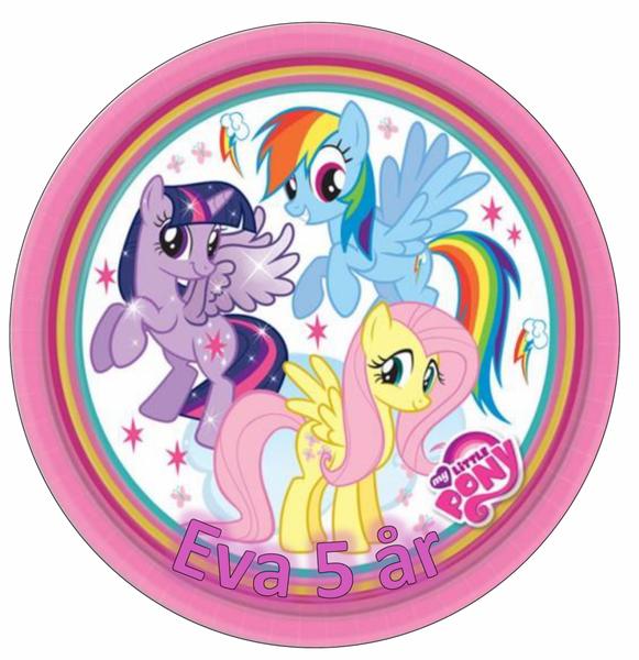 Bilde av My Little Pony, Kakebilde, Sukkerpapir, 20 cm