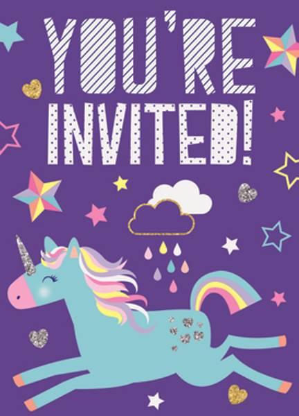 Bilde av Unicorn, Invitasjoner, 8 stk