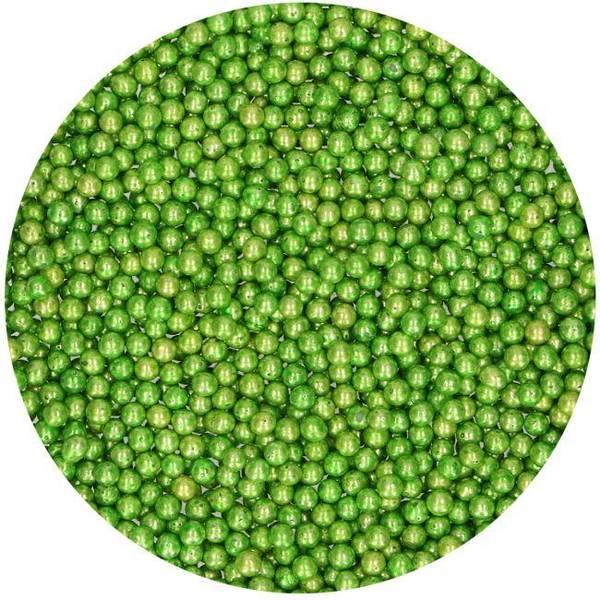 Bilde av Strøssel Sugar Pearls Metallic Green 80g