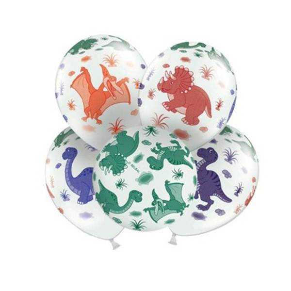 Bilde av Dinosaur Party Ballonger, 6stk