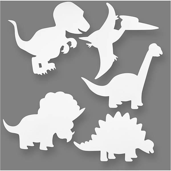 Bilde av Dekorer dine egne dinosaurfigurer, 16 stk