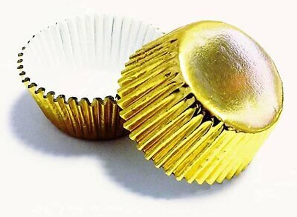 Bilde av Mini Metall Gull Muffinsformer