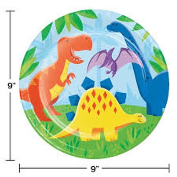 Bilde av Dinosaur Venner Tallerken, 8 stk