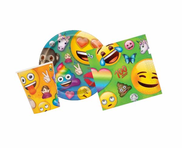 Bilde av Emoji rainbow fun basis 8 pers