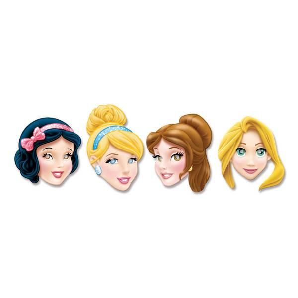 Bilde av Disney Prinsesser, Papirmasker, 4stk