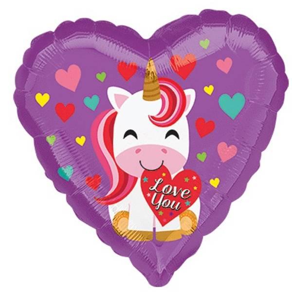 Bilde av Unicorn Folieballong, 43cm