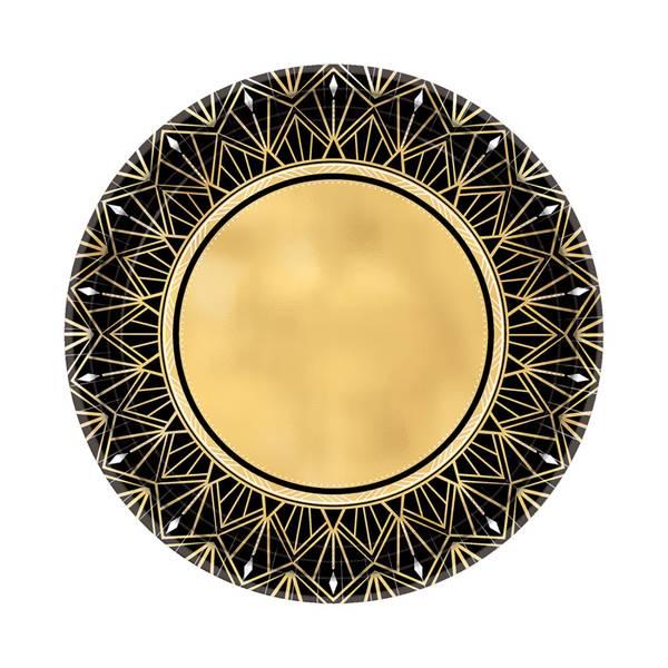 Bilde av Glitz & Glam Asjetter, Gull og svart, 8 stk