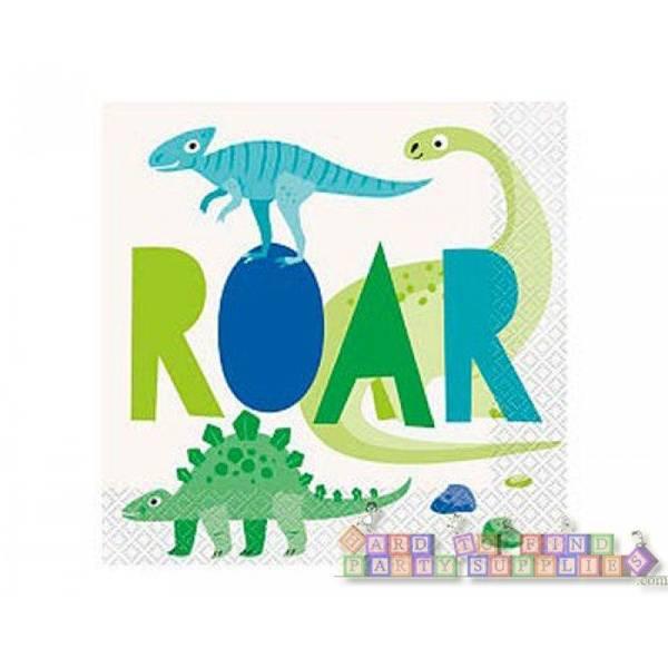 Bilde av Roar Dinosaur Servietter, 16stk
