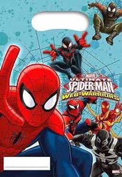 Bilde av Spiderman Web-Warriors godteposer, 6 stk