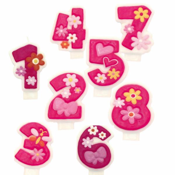 Bilde av Kakelys tall, rosa 1-8 år