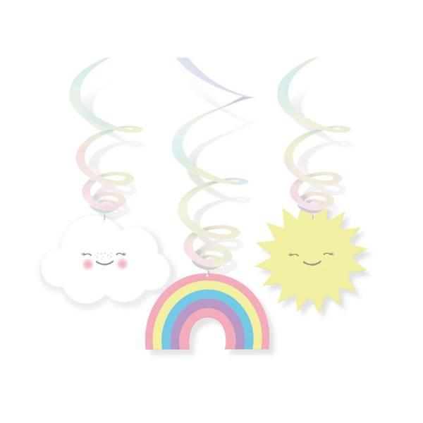 Bilde av Regnbue Hengende Dekorasjoner/Swirl
