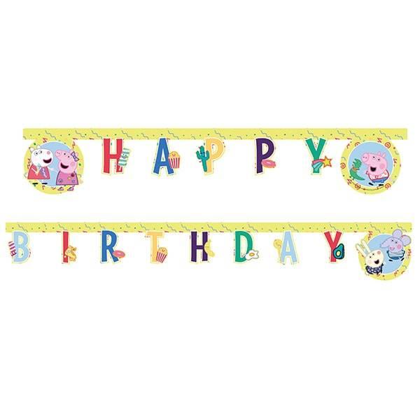 Bilde av Peppa Gris, Happy Birthday Banner