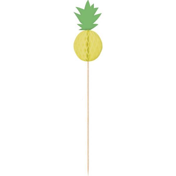 Bilde av Ananas vibes pyntepinner, 10 stk