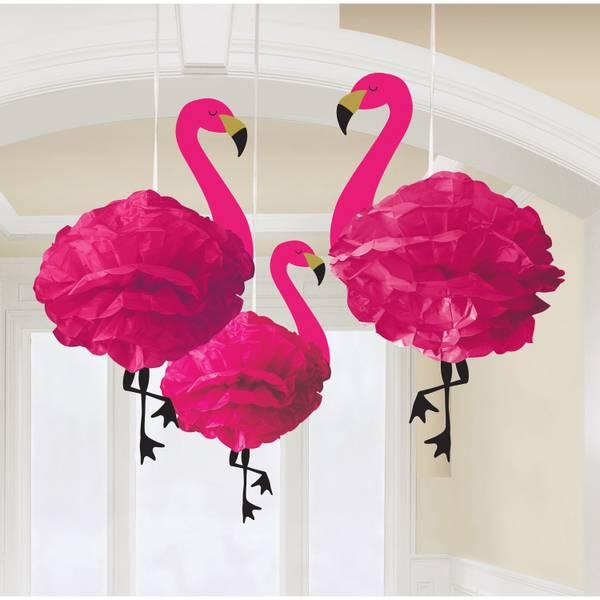 Bilde av  Fluffy Hengede  Flamingo Paper