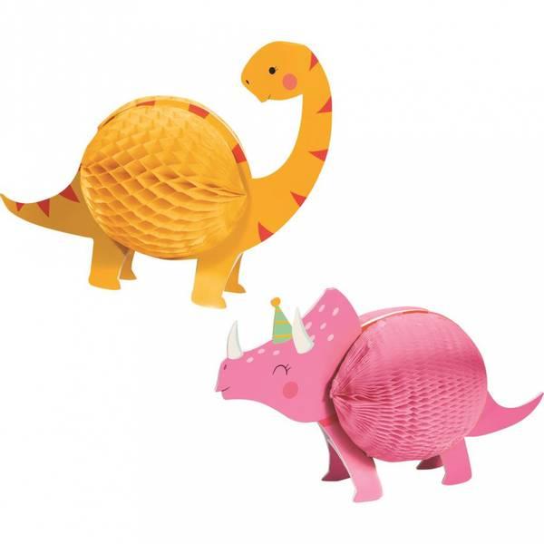 Bilde av Rosa Dinosaur, Honeycomb Borddekorasjon