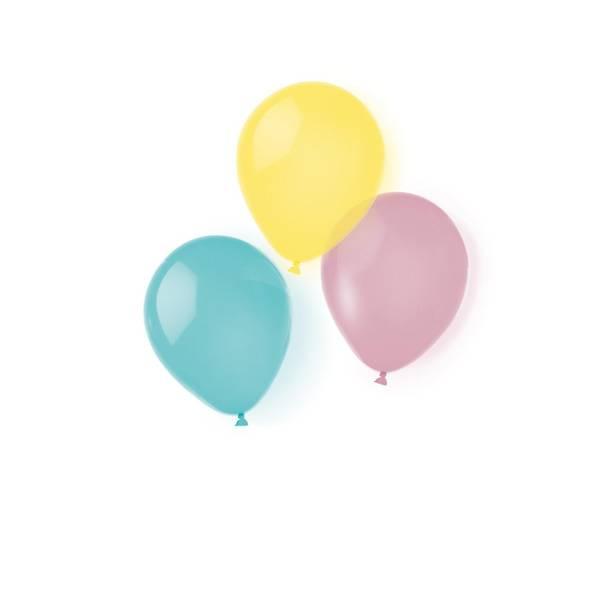 Bilde av 8 Latex Ballonger Pastell Regnbue