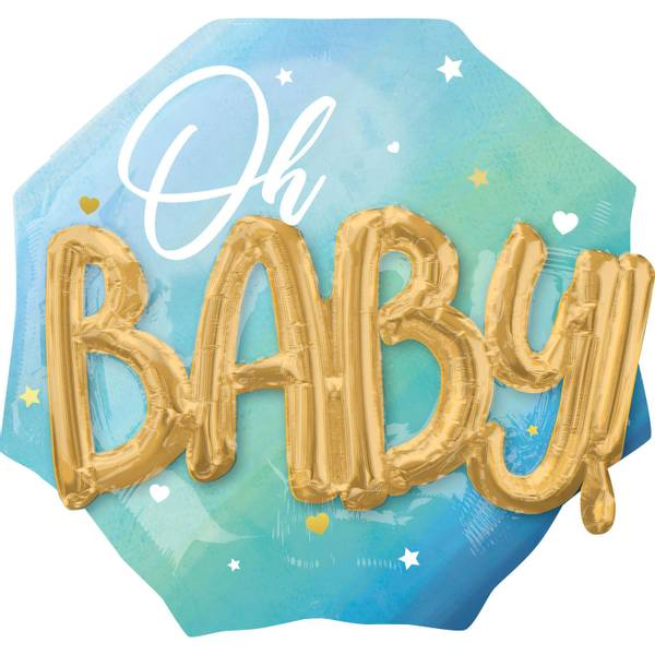 Bilde av XL Blue Baby Boy, Folieballong 76*71cm