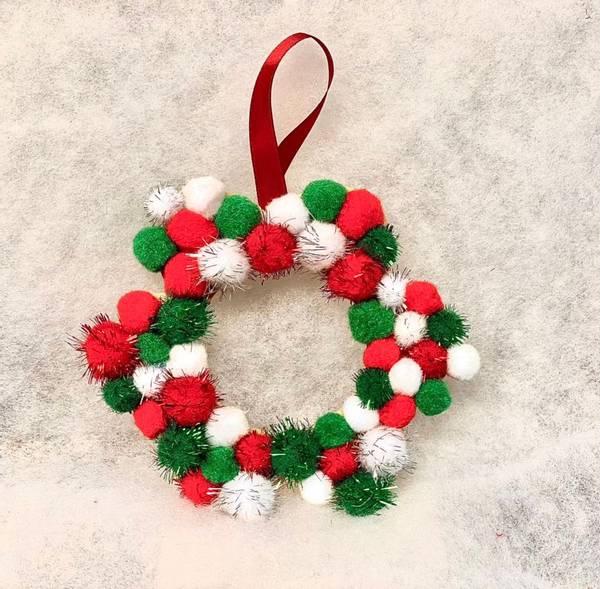 Bilde av Hobbypakke Jul, Julekrans, 20 cm