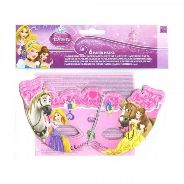 Bilde av Disney Prinsesse, Papirmasker, 6stk